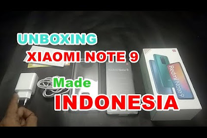 Unboxinh Xiaomi Note 9