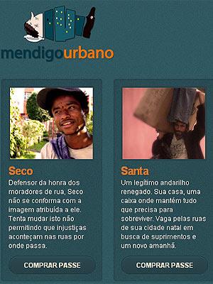 'Mendigo Urbano' vende doações para moradores de rua (Foto: Reprodução)