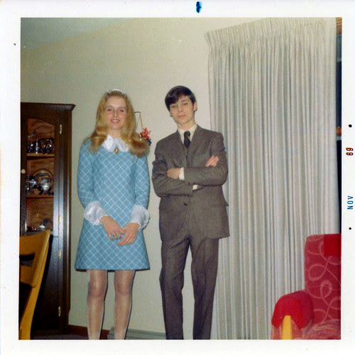 1968 (found photo) young couple