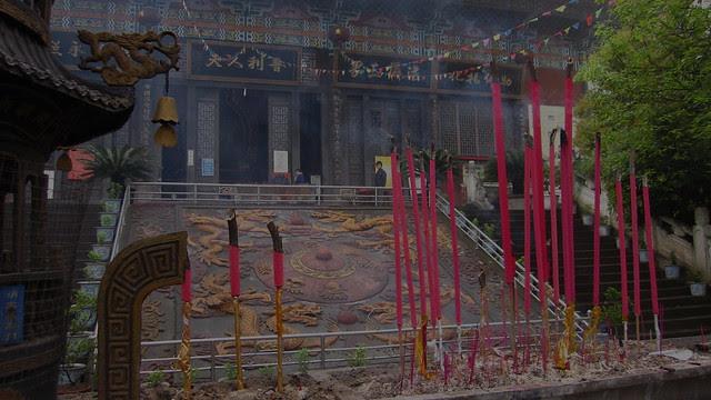 Incense, Qile temple, Nanchong