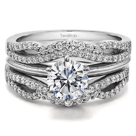 Double Infinity Wedding Ring Guard Enhancer ( 0.49 ct. twt