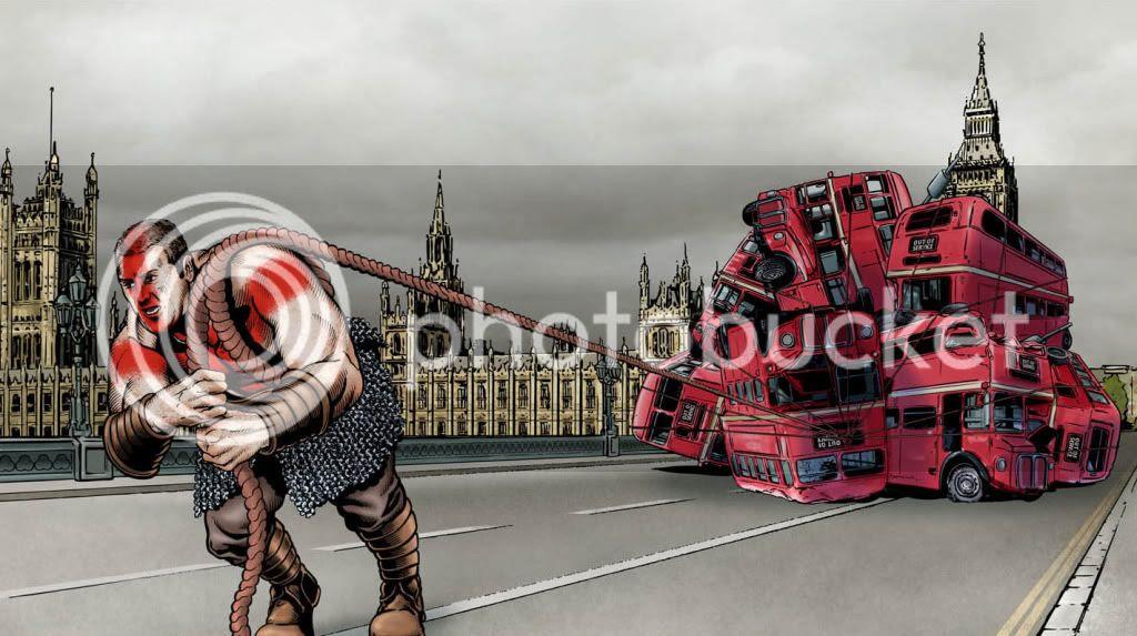 Worlds Strongest Man,Graeme Neil Reid,illustration,advert