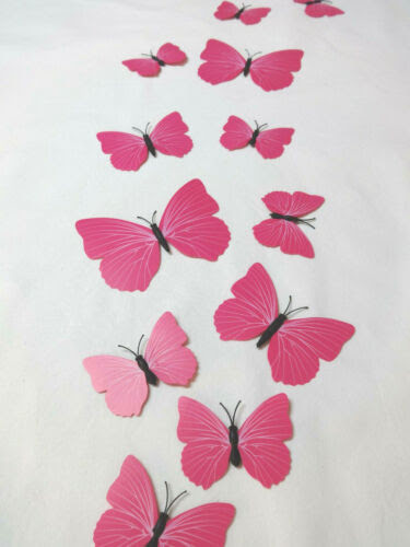 Dekoration 12 Rosa Schmetterlinge Wandtattoo Schmetterling Pink Madchen Kinderzimmer Girl Mobel Wohnen Callvet Com Br