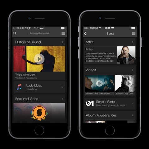 SoundHound Apple Music iPhone screenshot 001