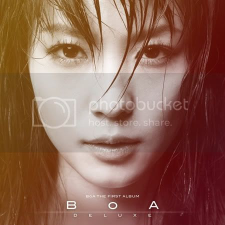 BoA with the sweated out hair on the cover of her English language debut re-release