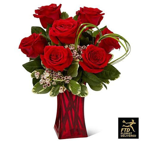 The FTD® Rush of Romance Red Rose Bouquet