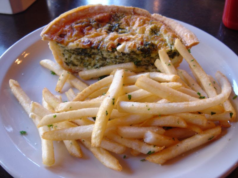 Half Quiche and French Fries