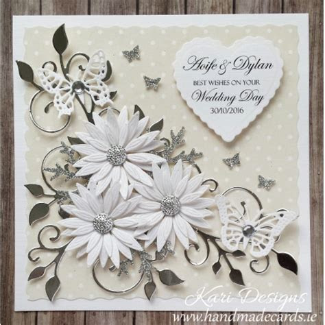 Beautiful Wedding Card, handmade by Kari Designs www