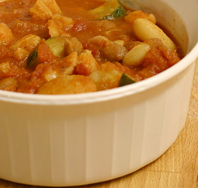 Hominy and bean chili