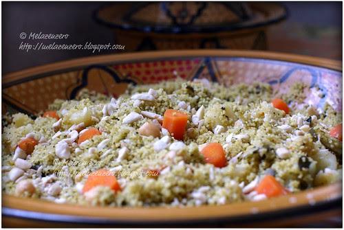 cous-cous con verdure e mandorle