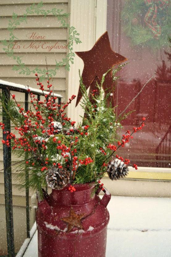 40 Comfy Rustic Outdoor Christmas Décor Ideas - Interior ...