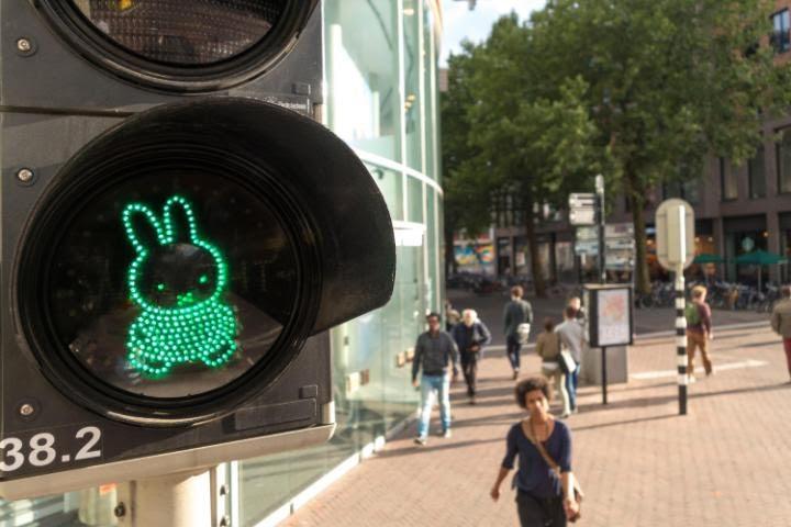 A Miffy traffic light in Utrecht