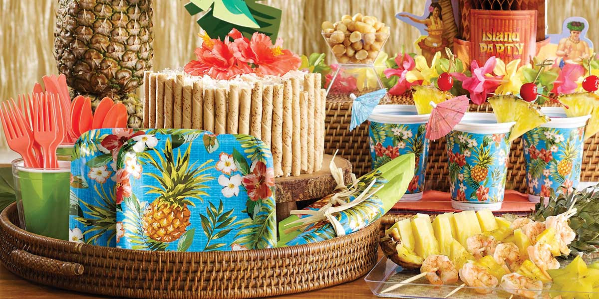 Hawaiian Luau Party Supplies For Adults Birthday Party Themes At Mtrade