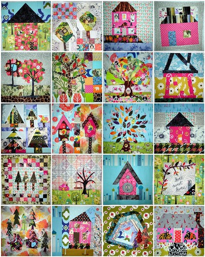 Home Sweet Home Quilt Along - 16 blocks PLUS 4 Bonus Blocks - I'm in LOVE!