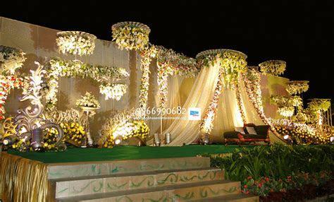reception stage flower sets decoration in hyderabad
