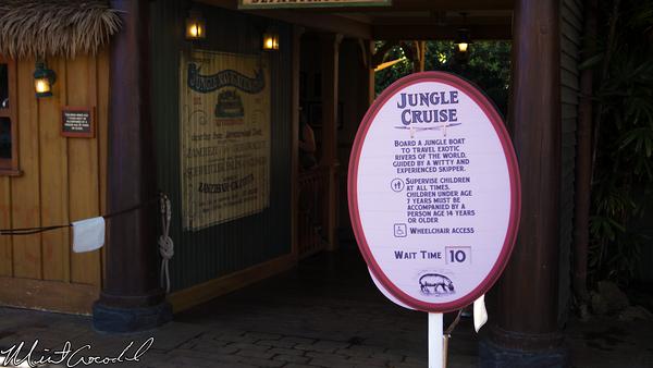 Disneyland Resort, Disneyland, Jungle Cruise, Wait Time, Sign