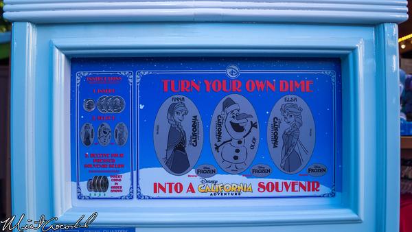 Disneyland Resort, Disney California Adventure, Hollywood Land, Frozen, Frozen Fun, Wandering Oaken's Trading Post, Coin, Press