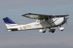 G-BFPH - 1971 Reims built Cessna F172K Skyhawk, departing from Runway 09L at Barton