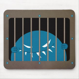 Monster Kingpin Jailed evil mousepad zazzle_mousepad