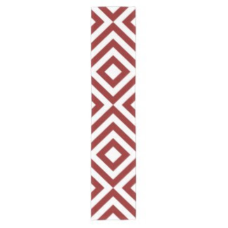 Red and White Chevrons Table Runner Short Table Runner