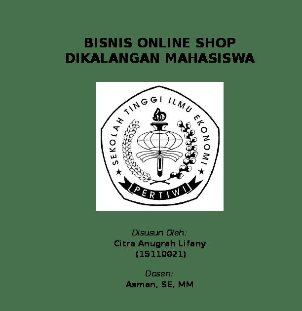 Contoh Proposal Usaha Online Shop Kosmetik Pdf Temukan Contoh