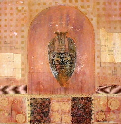 """cobaltika:  """"Silent Alcove"""" (Original Art from M. Lehrer-Plansky))"""