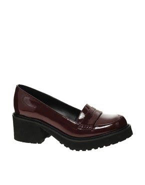 Image 1 of ASOS STRIDER Heeled Loafers