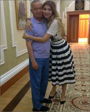Ислам Каримов и его дочь Гульнара. Фото с сайта Би-Би-Си