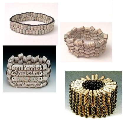 recycled newspaper jewelry