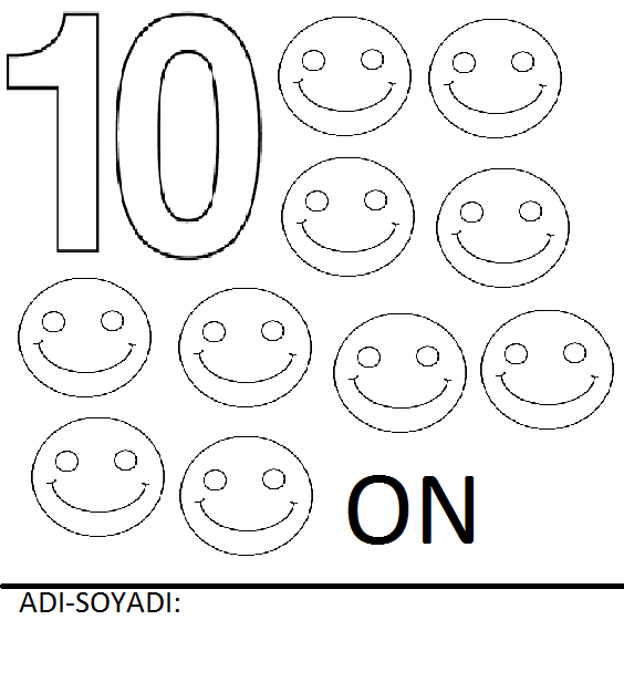 Rakamlar Boyama Sayfaları Sayfa 10 10 Arabulokucom