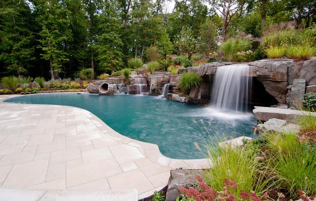 Saddle River NJ - Swimming Pool Design NJ - tropical - pool - new ...