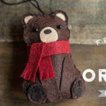 Chiudipacco orsetto in feltro Cartamodello e Tutorial