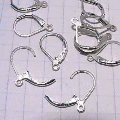 bs014 Sterling Earwires -  Euro-style Leverbacks - Sterling (Pair)