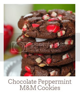"""""""Chocolate Peppermint M&M Cookies"""""""