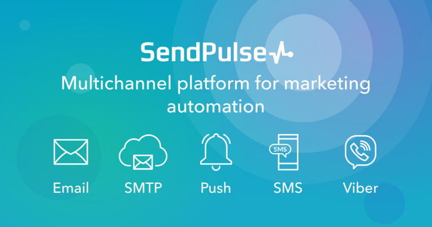 SendPulse is a platform which offers multiple channels of communication with customers: email, web push notifications, SMS and Viber