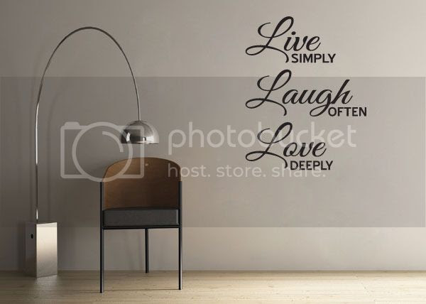 Live Laugh Love Inspirational Quote Vinyl Wall Decor Window Decal ...