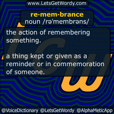 remembrance 09/11/2015 GFX Definition