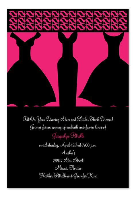 Little Black Dresses   Birthday Invitations by Invitation