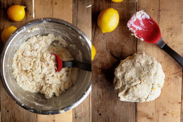 Lemon Cream Scones Process Photo