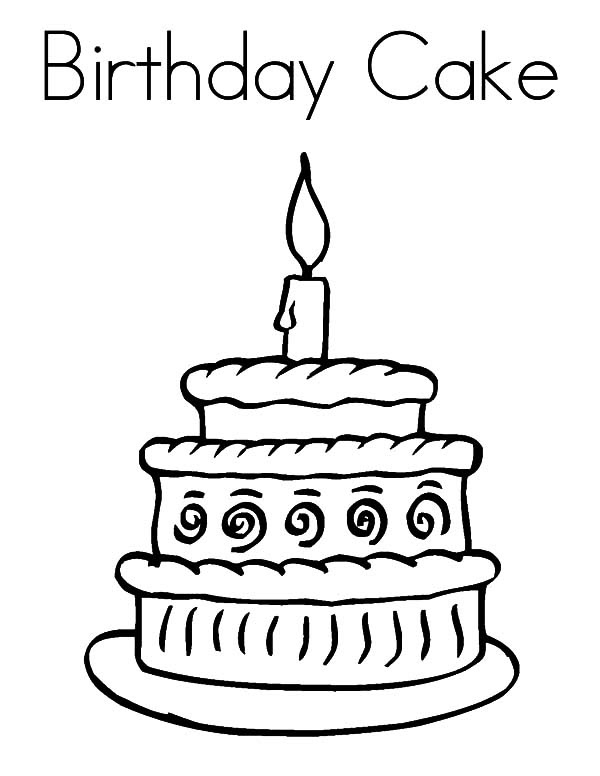 Drawing A Cartoon Cake Cake Drawing Simple Birthday