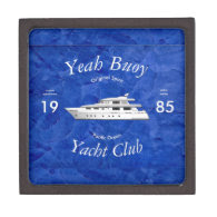 Yacht Club Yeah Buoy Premium Keepsake Boxes