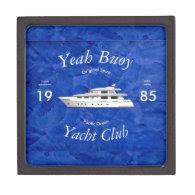 Yacht Club Yeah Buoy Premium Keepsake Boxes