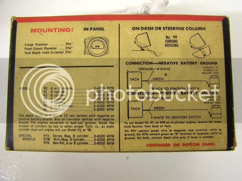 Tachometer Wiring Diagrams