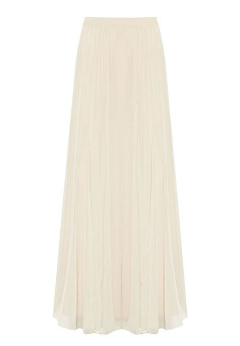 Off white Flowing Maxi Chiffon Skirt ? Elizabeth's Custom