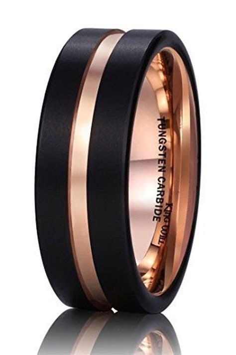 King Will 8Mm Black Mens Tungsten Carbide Ring Matte