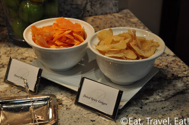 Lunch Delicacies at VIP Lounge: Ginger and Mango