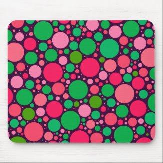 Green & Pink Spots Mousepad mousepad