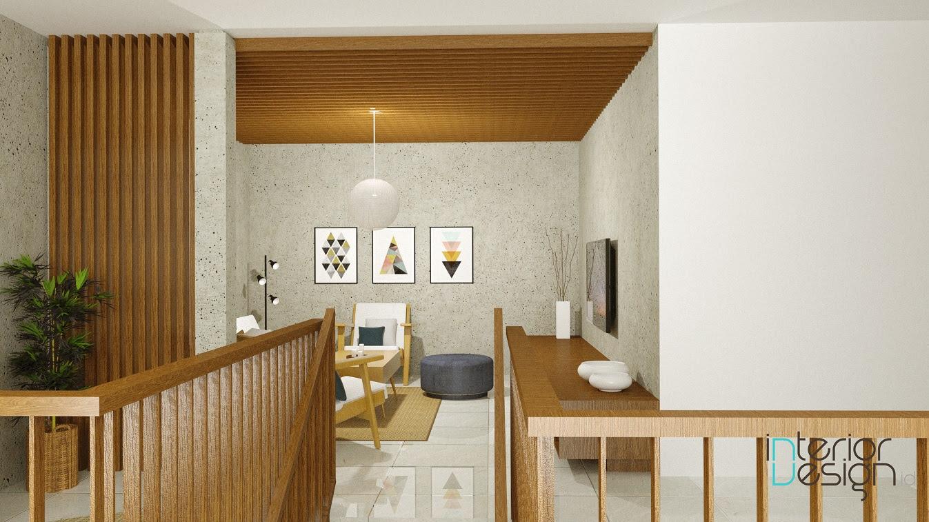Ruang Keluarga Rumah Kantor Cirebon InteriorDesignid