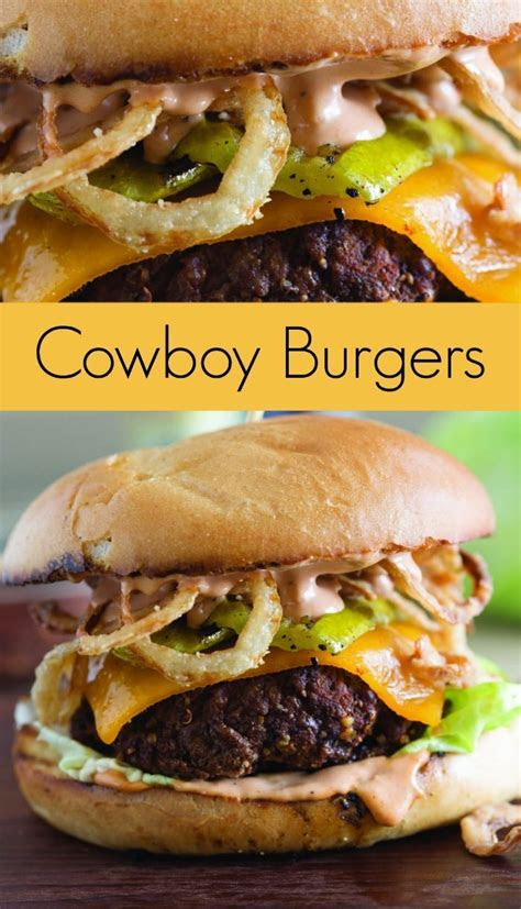 cowboy burger recipe  grilled pickles  crispy onion
