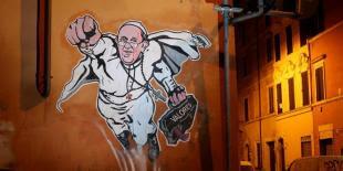 Bergoglio Superman